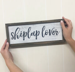 'Shiplap Lover' Box Sign