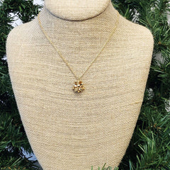 Final Sale: Gold Present Bow Pendant Necklace