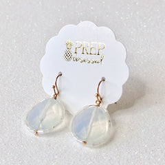 Final Sale: Ari Clear Faceted Bead Surround Dangles