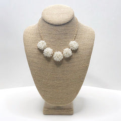 Lianne Pearl Seed Bead Cluster Necklace