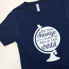 659ff9e8c 'Be The Change You Wish To See In The World' Globe Signature Graphic Tee. '