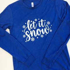 'Let It Snow' Long Sleeve Graphic Tee