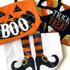 Halloween Dazzle Totes by Mud Pie