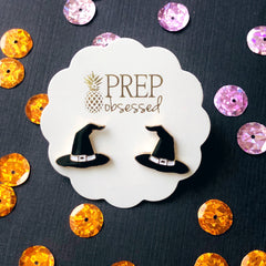 Witch Hat Signature Enamel Studs by Prep Obsessed