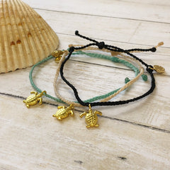 Turtle Bitty Charm Bracelet by Pura Vida