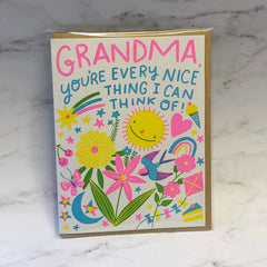 'Grandma, You're Every Nice Thing' Greeting Card