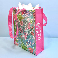 Prep Obsessed Mermaid Printed Shopper Tote - Set of 3