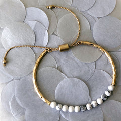 Riley Marble Beaded Pull Bracelet