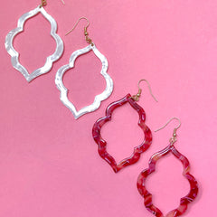 Chaya Quatrefoil Dangle Earrings - 2 colors available