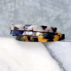 Skinny Tortoise Cuff Bracelet - Choice of Color