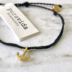 Gold Anchor Bracelet by Pura Vida