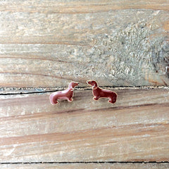Signature Pet Enamel Studs by Prep Obsessed - Dachshund