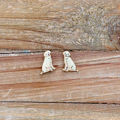 Signature Pet Enamel Studs by Prep Obsessed - Yellow Lab