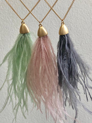 Miranda Feather Long Necklace