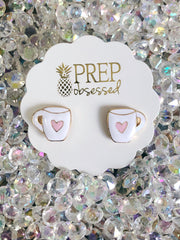Hug in a Mug Signature Enamel Studs by Prep Obsessed