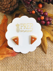 Pumpkin Pie Slice Signature Enamel Studs by Prep Obsessed