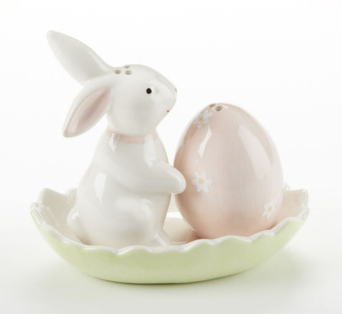 Bunny and Egg Salt and Pepper Set