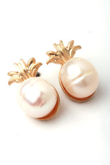 Freshwater Pearl Pineapple Studs - 3 Colors Available