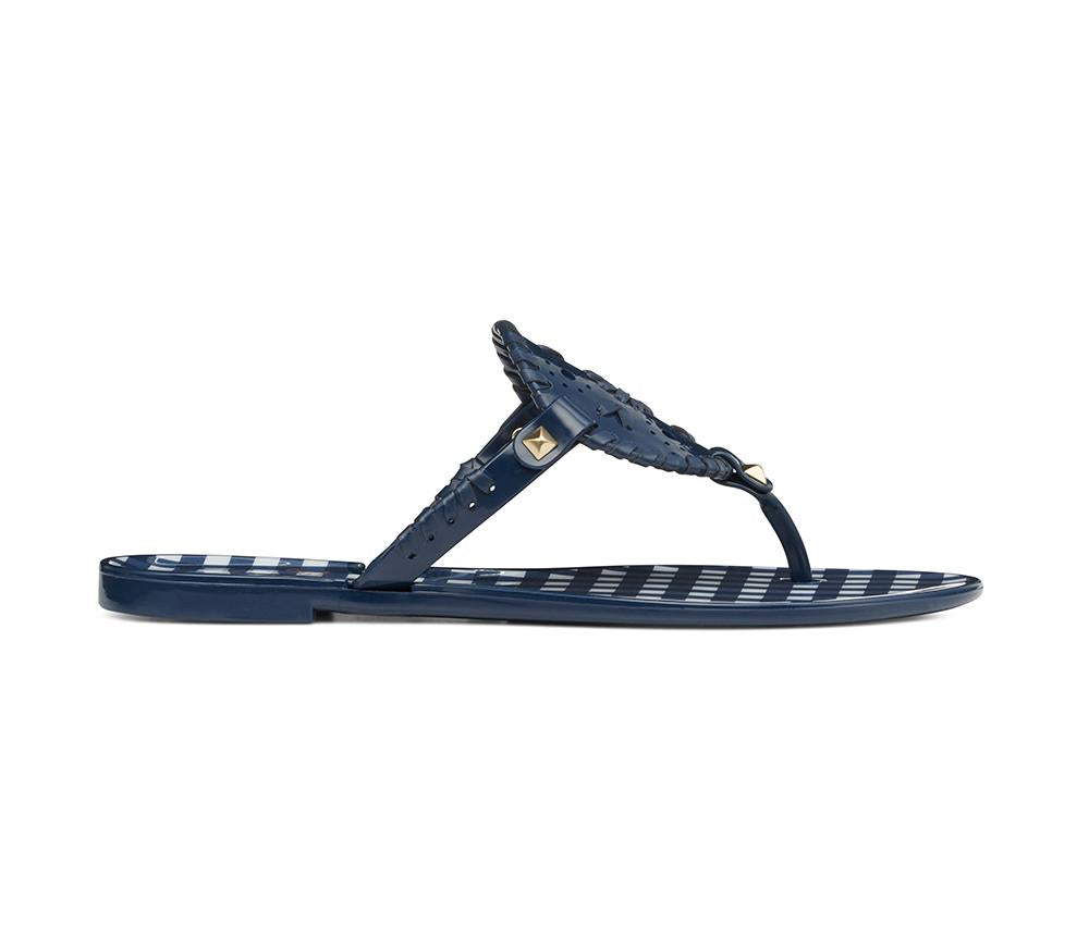 d5b508ea4df Gingham Georgica Jelly Sandals by Jack Rogers - Midnight – Prep Obsessed