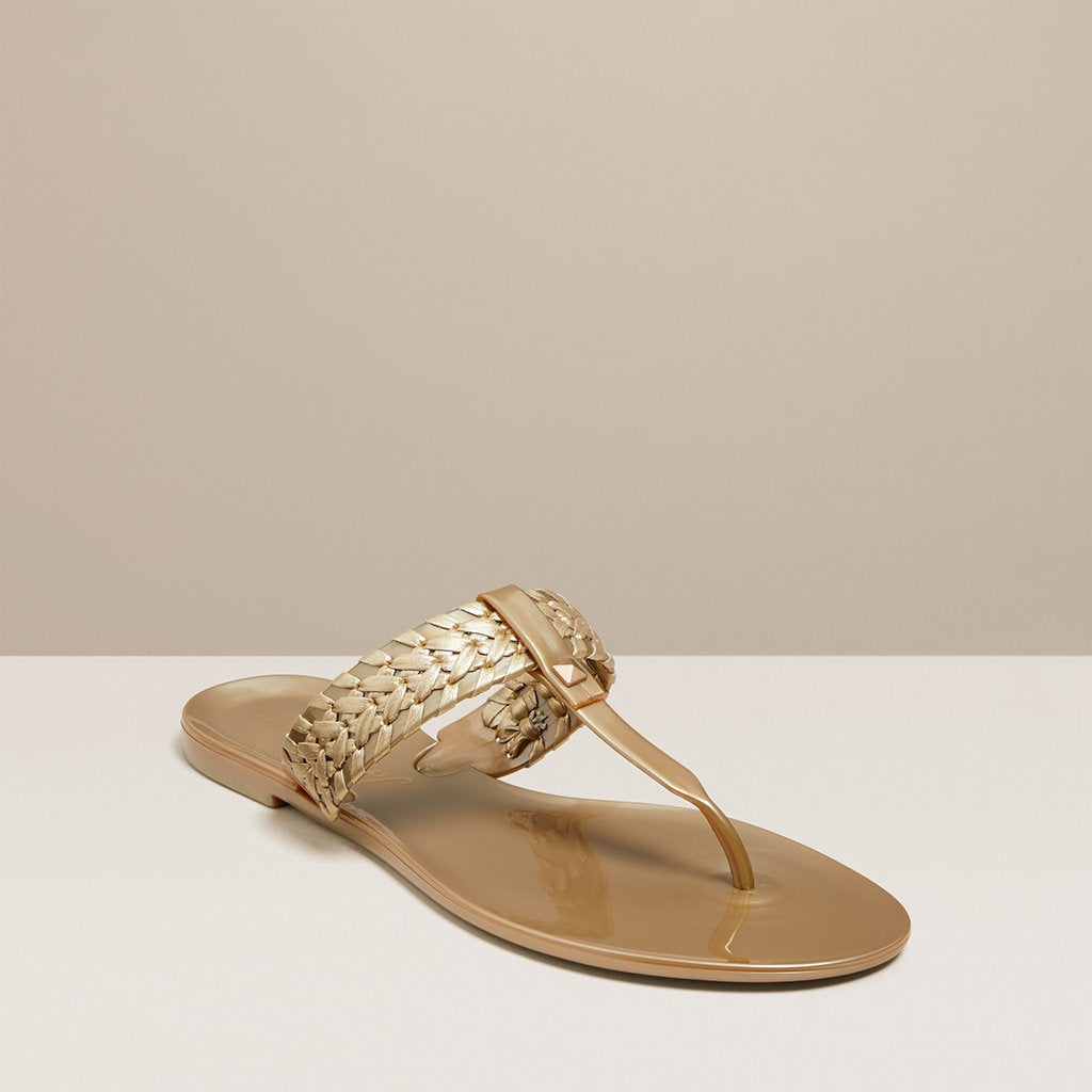 00ac9cfd3ea Gold Tinsley Jelly Sandal by Jack Rogers – Prep Obsessed