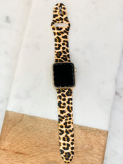 Jaguar Print Silicone Smart Watch Band