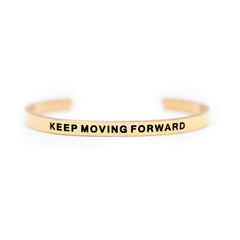 'Keep Moving Forward' Cuff Bracelet by Lillian & Co.