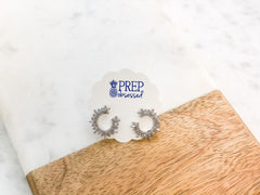 Kierra Crystal Stud Hoop Earrings