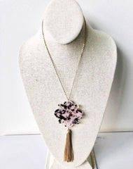 Kinsley Long Pendant Tassel Necklace