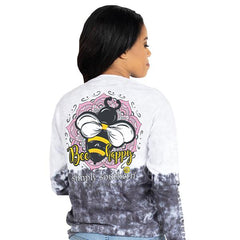 'Bee Happy' Tie Dye Long Sleeve Tee by Simply Southern