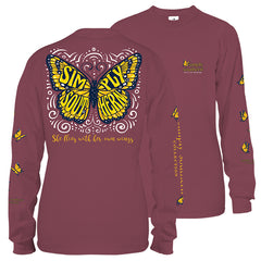 Youth 'Flies With Her Own Wings' Butterfly Long Sleeve Tee by Simply Southern