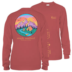 Camping Scene Long Sleeve Tee by Simply Southern