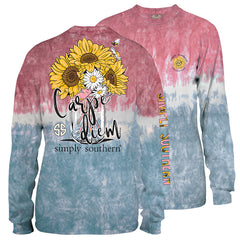 Youth 'Carpe Diem' Tie Dye Long Sleeve Tee by Simply Southern