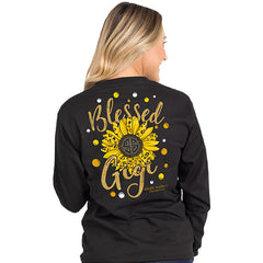 'Blessed Gigi' Sunflower Long Sleeve Tee by Simply Southern