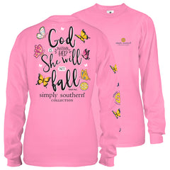 Youth 'She Will Not Fall' Long Sleeve Tee by Simply Southern