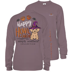 'Happy Howl-oween' Puppy Halloween Long Sleeve Tee by Simply Southern