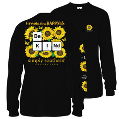 Youth 'Happy Life Be Kind' Sunflower Long Sleeve Tee by Simply Southern