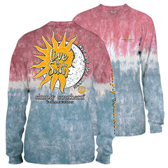 Youth 'Live By The Sun, Love By The Moon' Tie Dye Long Sleeve Tee by Simply Southern