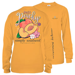 Youth 'Just Peachy' Long Sleeve Tee by Simply Southern