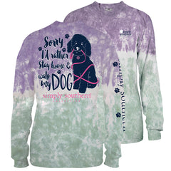 'Walk My Dog' Tie Dye Long Sleeve Tee by Simply Southern