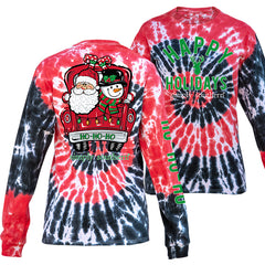 Youth 'Ho Ho Ho' Holiday Truck Tie Dye Long Sleeve Tee by Simply Southern