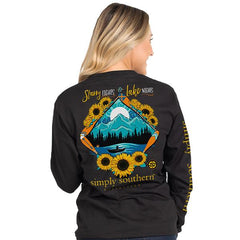 'Starry Lights & Lake Nights' Long Sleeve Tee by Simply Southern