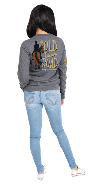 Old Town Road Long Sleeve Tee By Simply Southern Prep