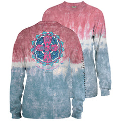 'She Will Not Fail' Tie Dye Long Sleeve Tee by Simply Southern
