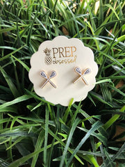 Lacrosse Signature Enamel Studs by Prep Obsessed