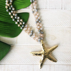 Leilani Starfish Beaded Statement Necklace
