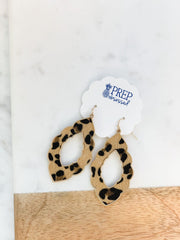 Phoenix Leopard Statement Earring - Brown