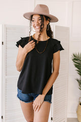 Light and Linen Top in Black - 4/13