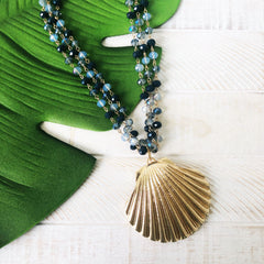 Lucia Shell Beaded Statement Necklace