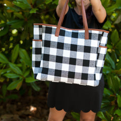 White Buffalo Check Hayden Tote