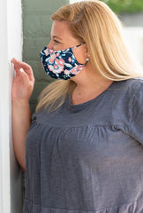Adult Printed Face Mask - Floral